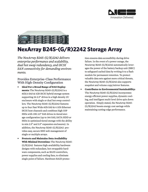 NexArray B24S-(G/R)2242 Storage Array Brochure