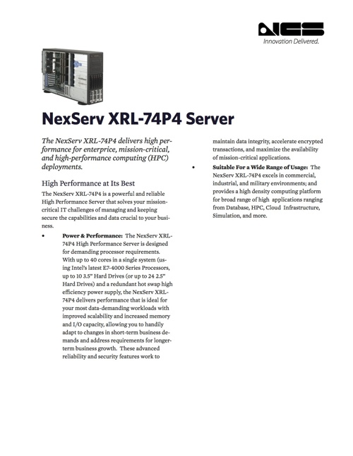XRL-74P4 Delivers High Performance for Enterprise Deployments