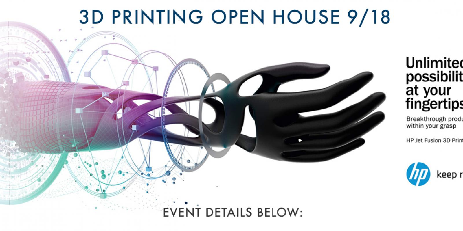 Unlimited possibilities at your fingertips. Breakthrough productivity is within your grasp. HP Jet Fusion 3D Printing